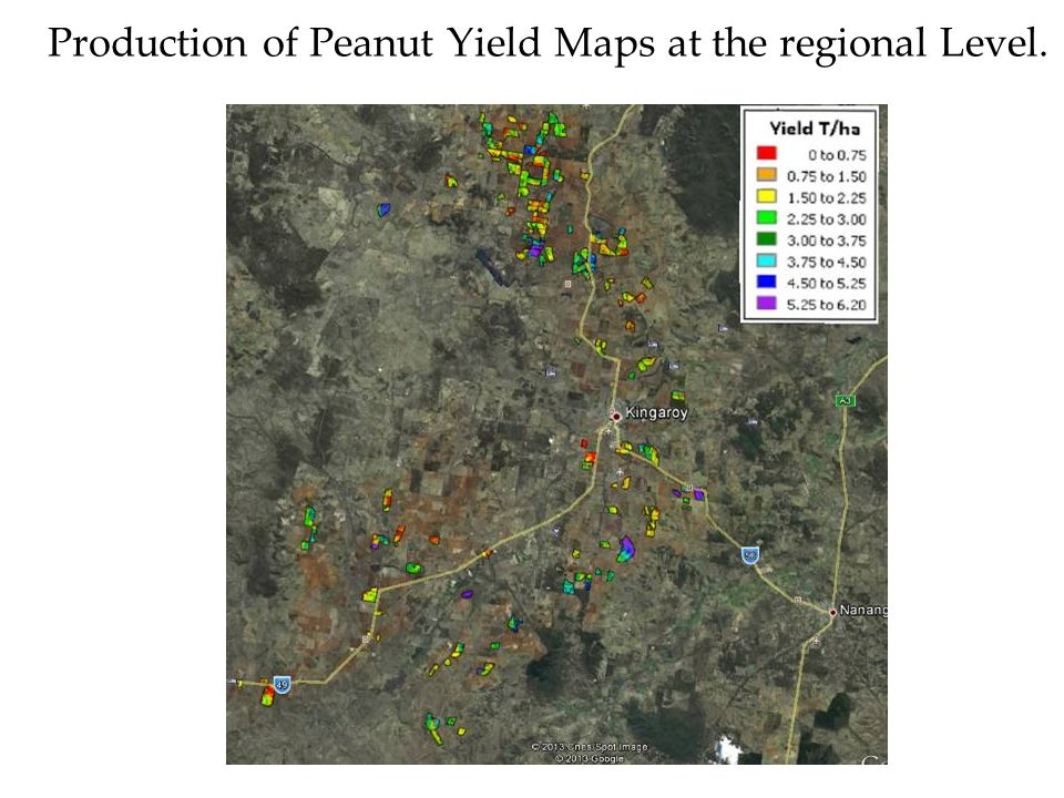 Production of Peanut Yield Maps at the regional Level.