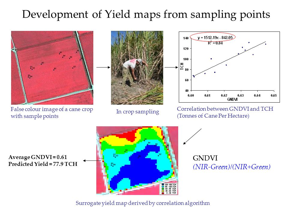 Development of Yield maps from sampling points