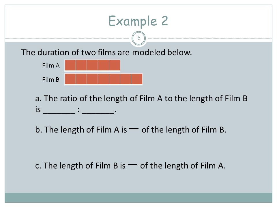 Example 2 The duration of two films are modeled below.
