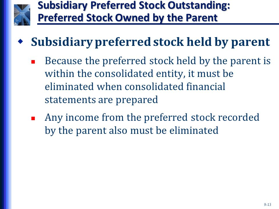 Subsidiary preferred stock held by parent