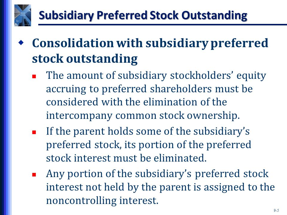 Subsidiary Preferred Stock Outstanding
