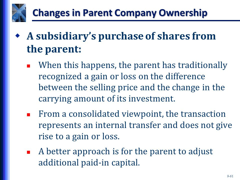 Changes in Parent Company Ownership