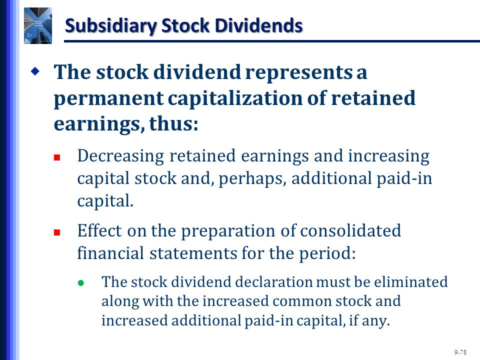 Subsidiary Stock Dividends