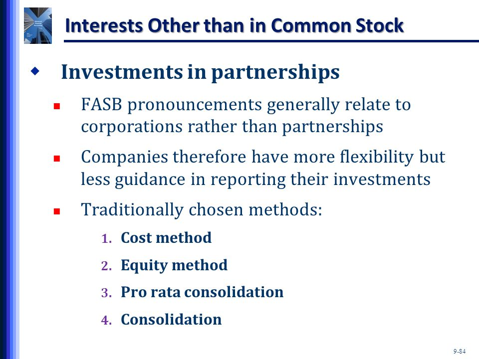 Interests Other than in Common Stock
