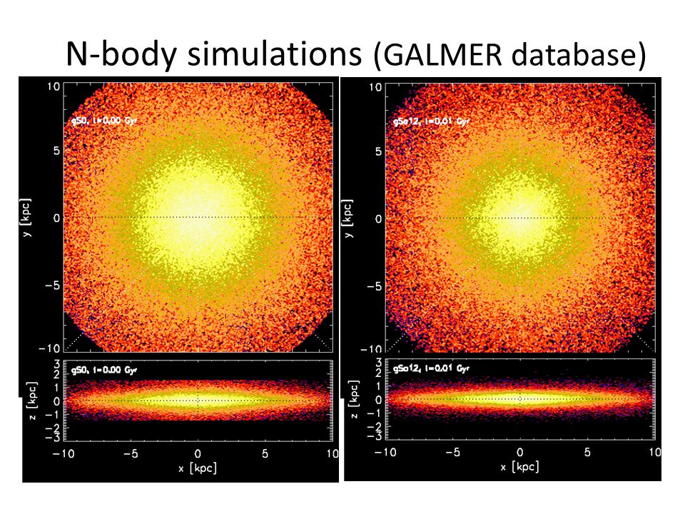 N-body simulations (GALMER database)