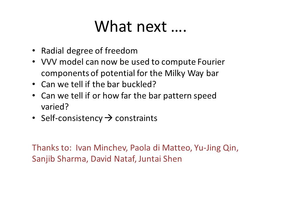 What next …. Radial degree of freedom