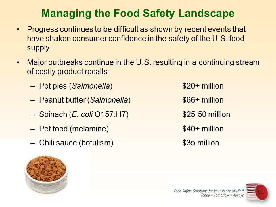 Managing the Food Safety Landscape