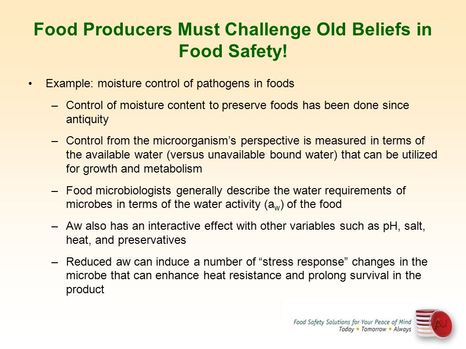 Food Producers Must Challenge Old Beliefs in Food Safety!