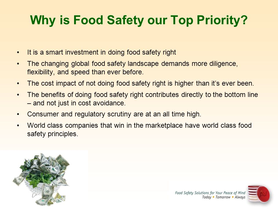 Why is Food Safety our Top Priority