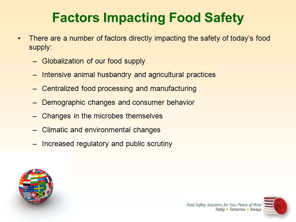 Factors Impacting Food Safety