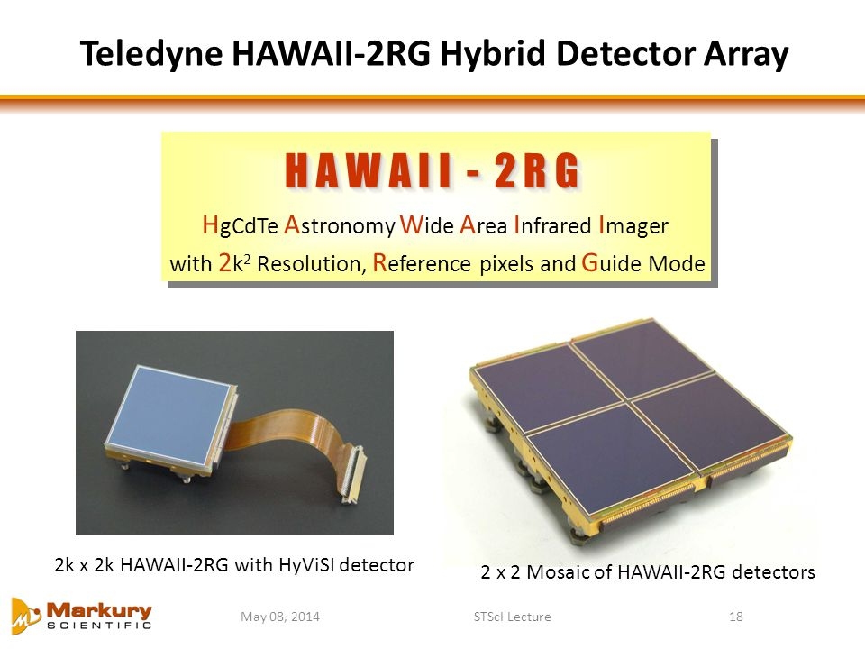 Teledyne HAWAII-2RG Hybrid Detector Array