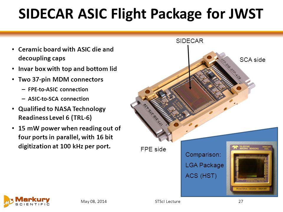 SIDECAR ASIC Flight Package for JWST