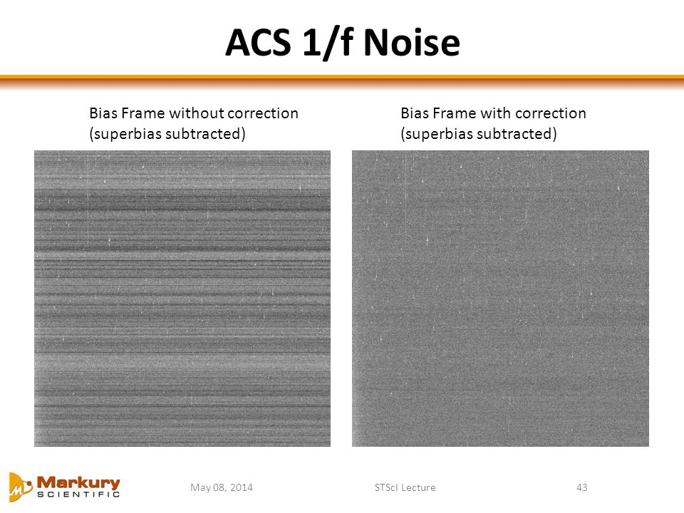 ACS 1/f Noise Bias Frame without correction (superbias subtracted)