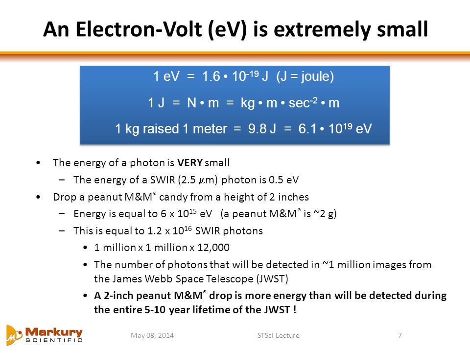 An Electron-Volt (eV) is extremely small