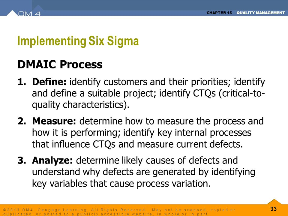 Implementing Six Sigma