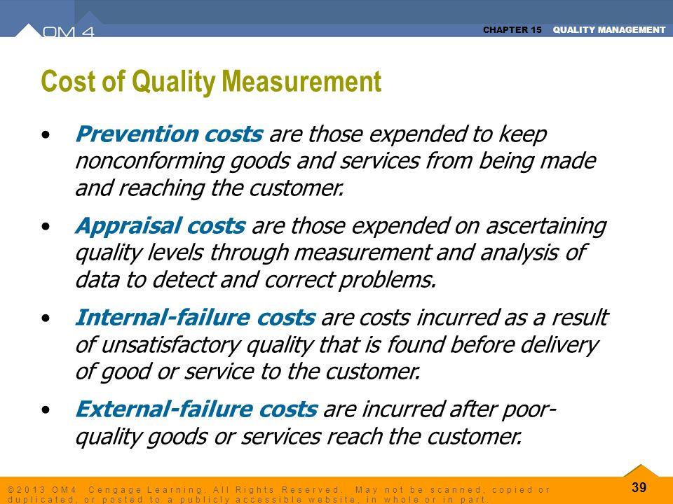 Cost of Quality Measurement