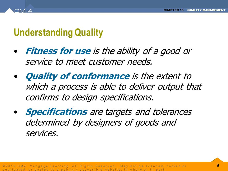understanding quality control The quality control tools and techniques discussed in this article are this trend will help in understanding whether there is a problem or not.