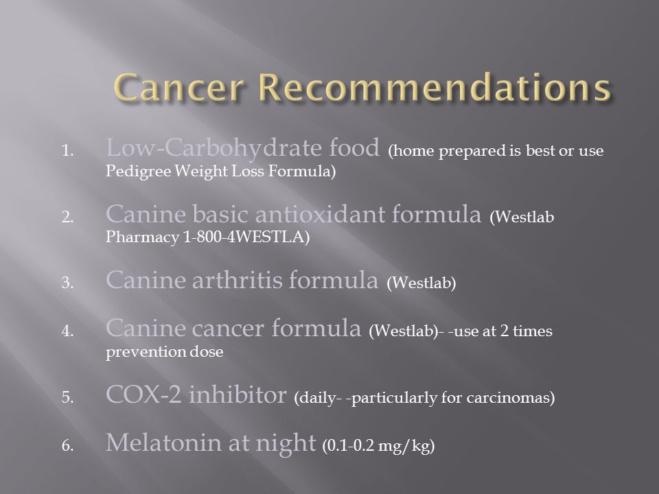 Cancer Recommendations