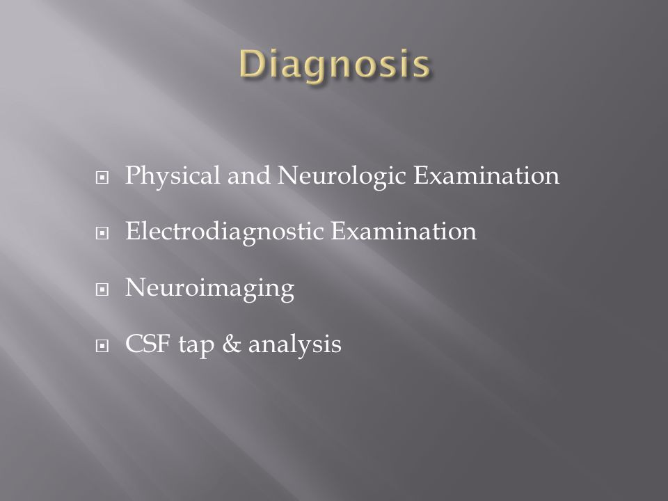 Diagnosis Physical and Neurologic Examination