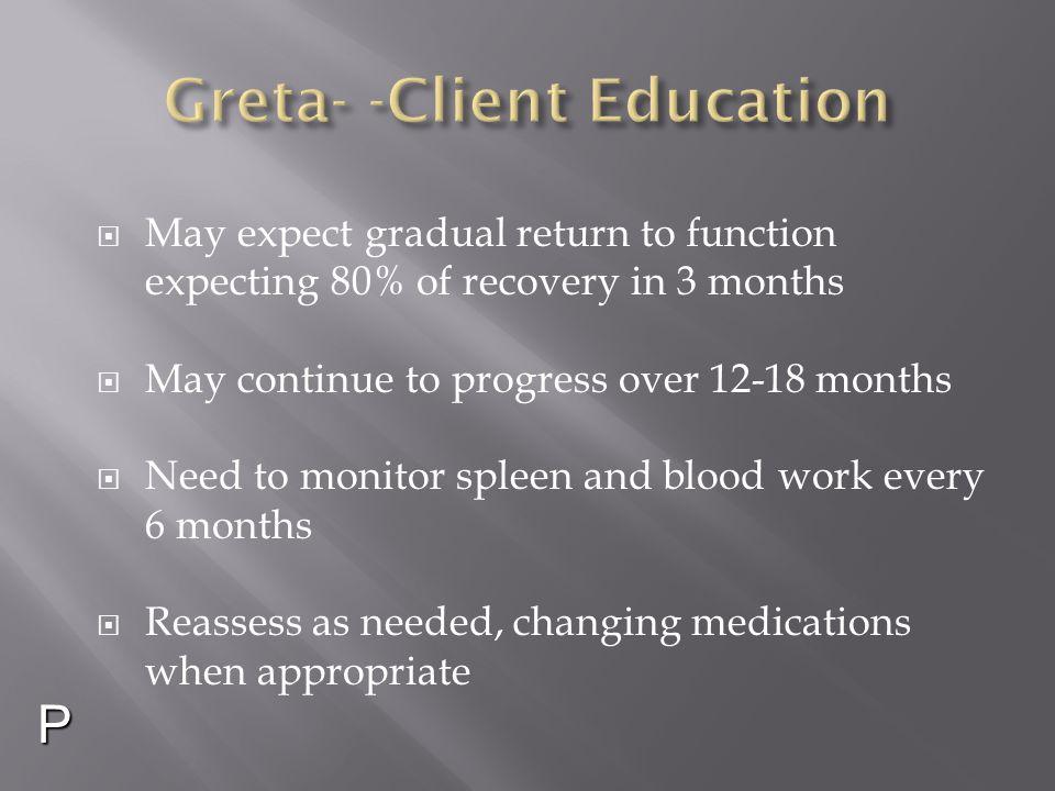 Greta- -Client Education