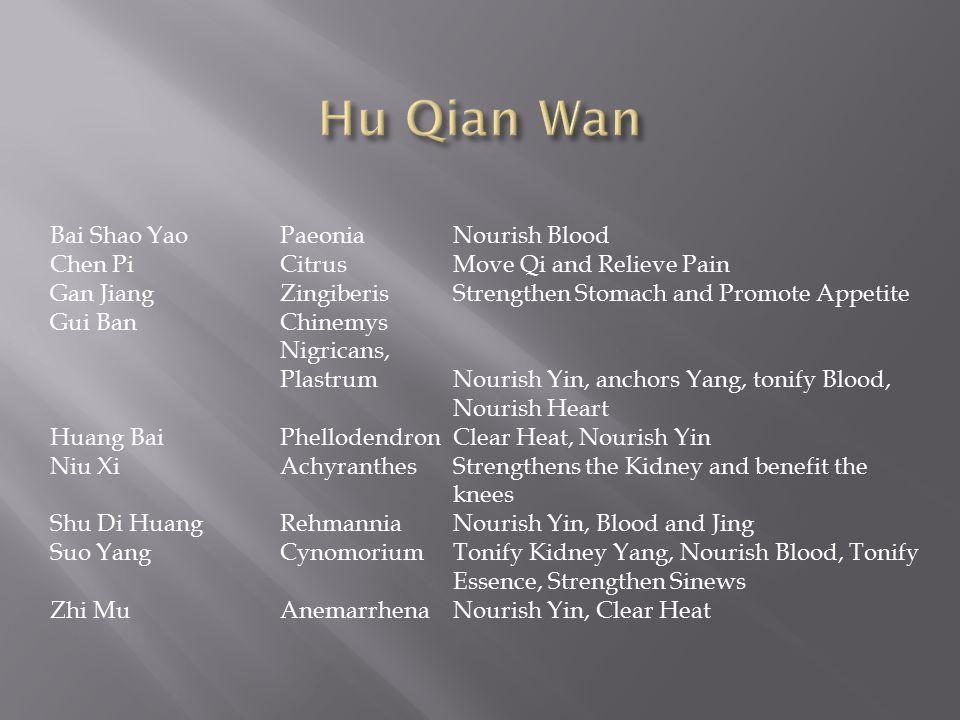 Hu Qian Wan Bai Shao Yao Paeonia Nourish Blood