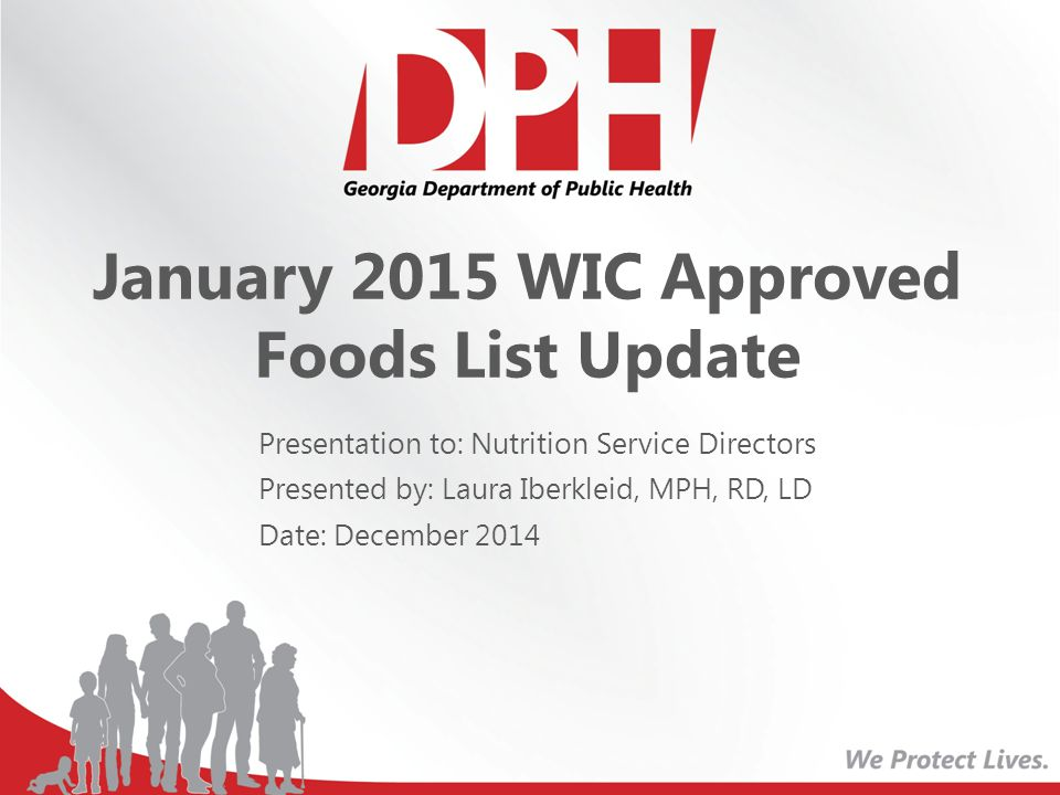 January 2015 WIC Approved Foods List Update