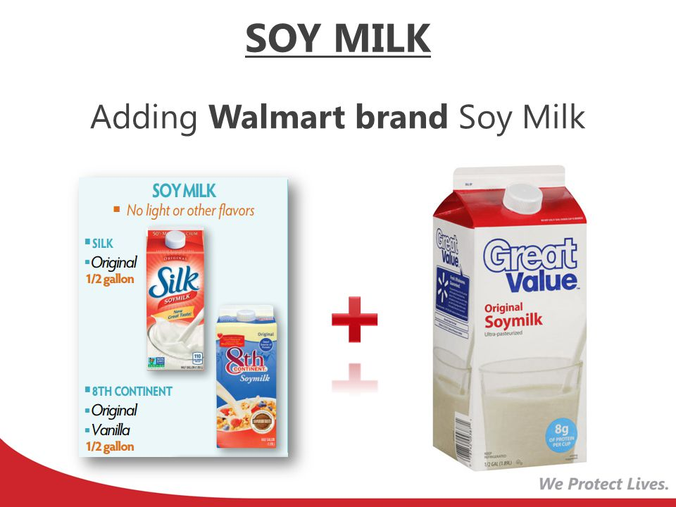 Adding Walmart brand Soy Milk