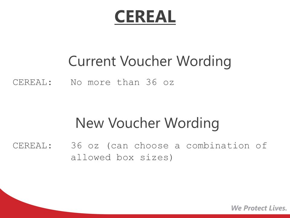 Current Voucher Wording