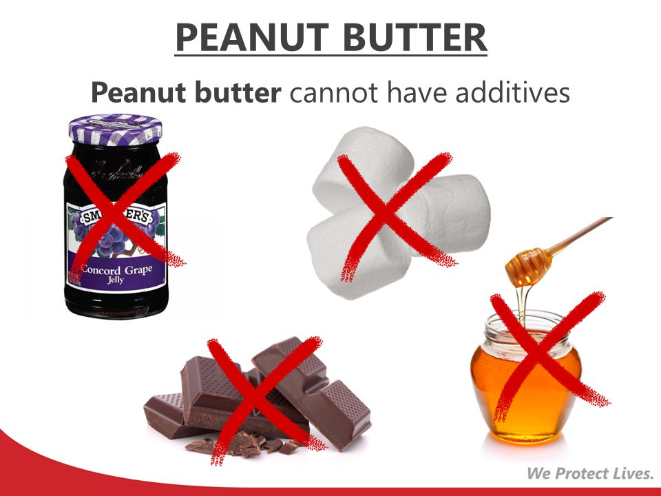 Peanut butter cannot have additives