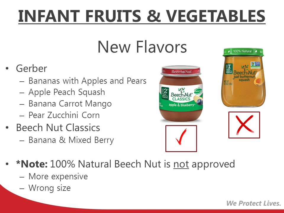 INFANT FRUITS & VEGETABLES