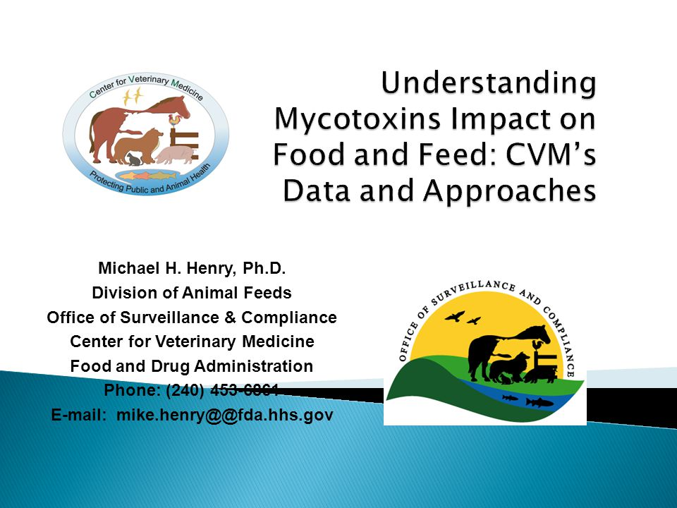 Understanding Mycotoxins Impact on Food and Feed: CVM's Data and Approaches