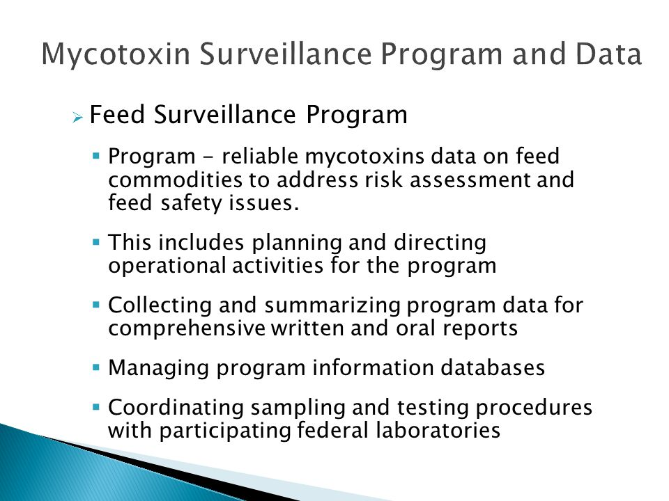 Mycotoxin Surveillance Program and Data