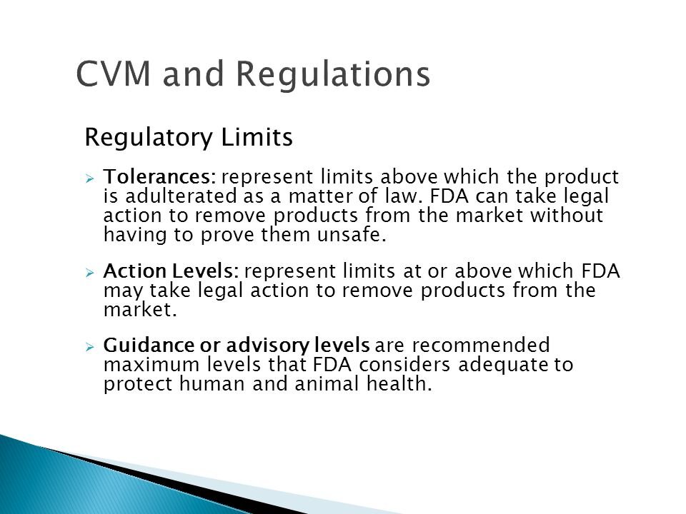 CVM and Regulations Regulatory Limits