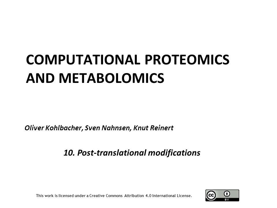 Computational Proteomics and Metabolomics