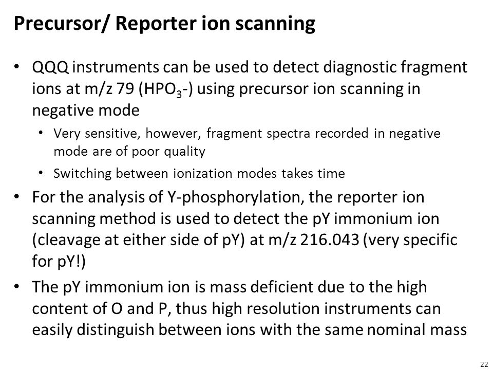 Precursor/ Reporter ion scanning