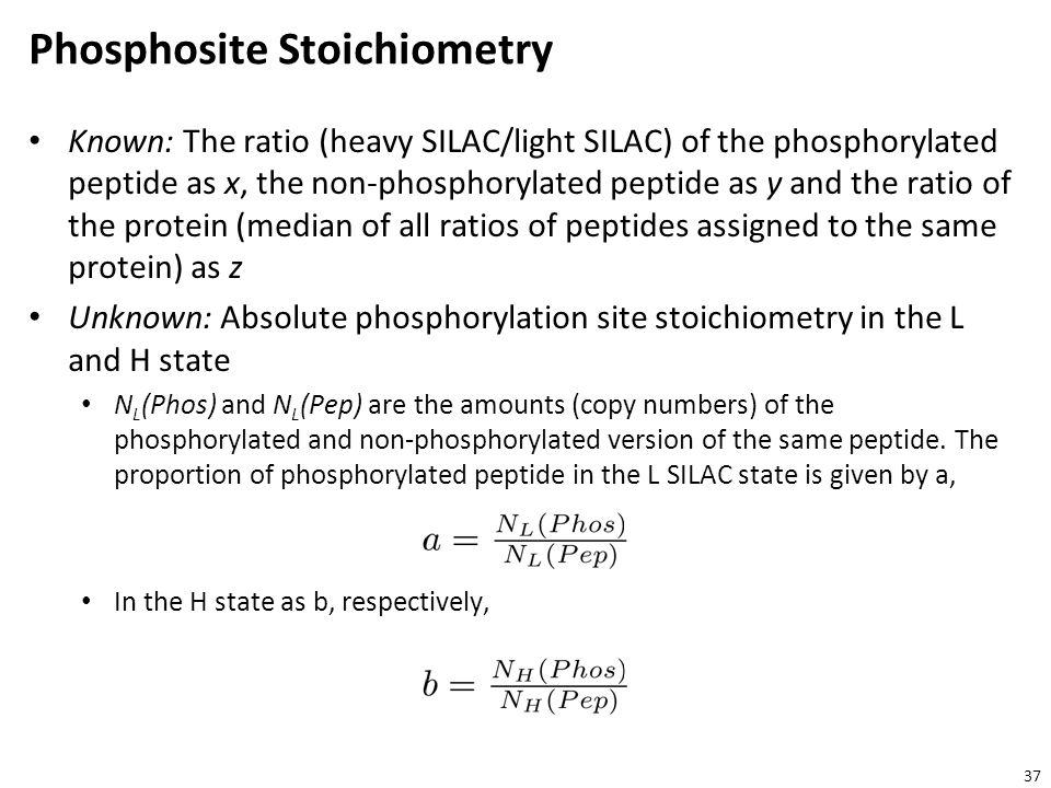 Phosphosite Stoichiometry