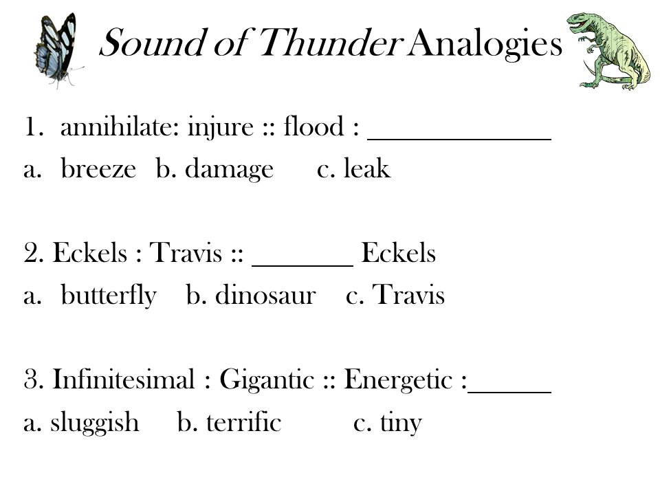 Sound of Thunder Analogies
