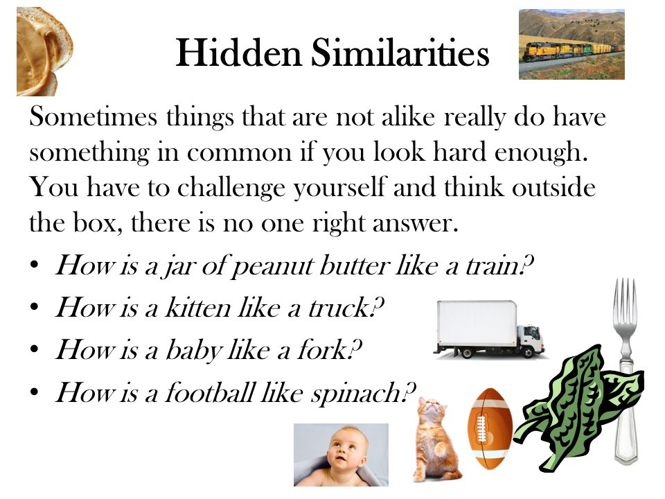 Hidden Similarities