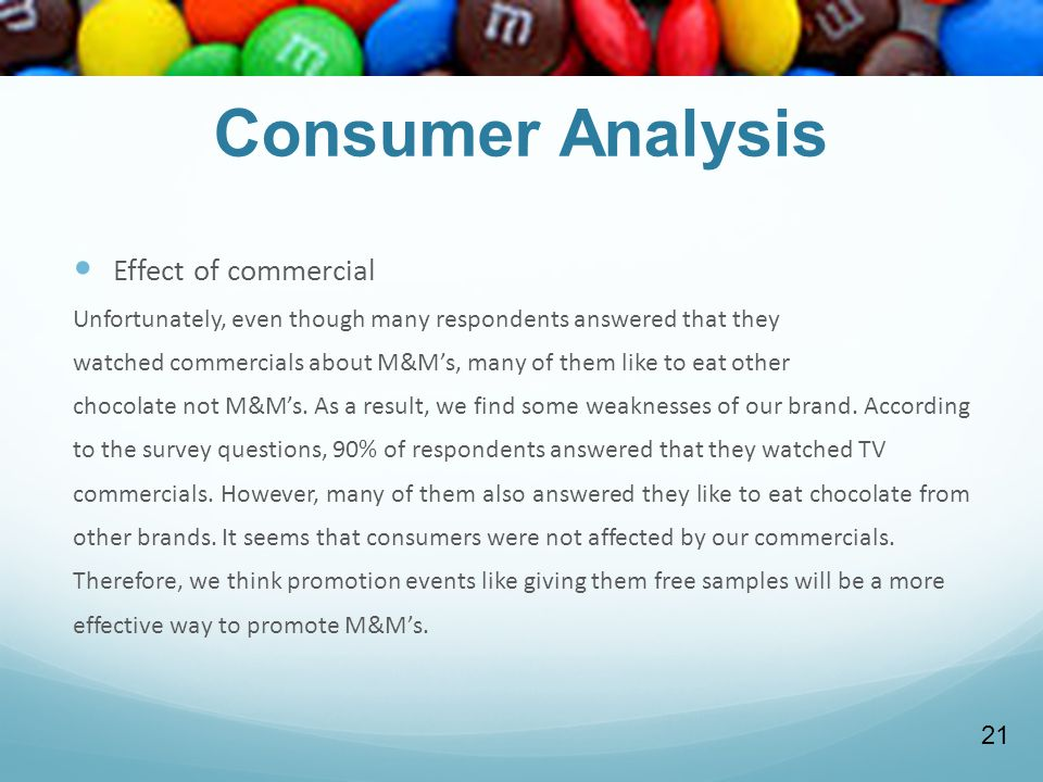 Consumer Analysis Effect of commercial