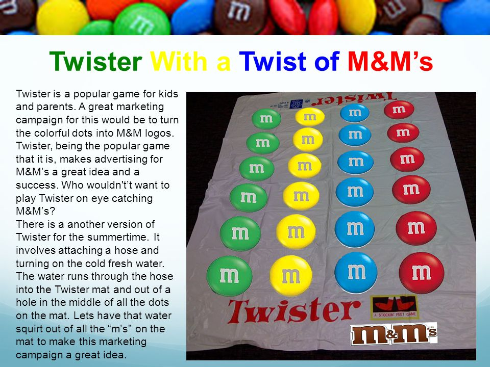 Twister With a Twist of M&M's