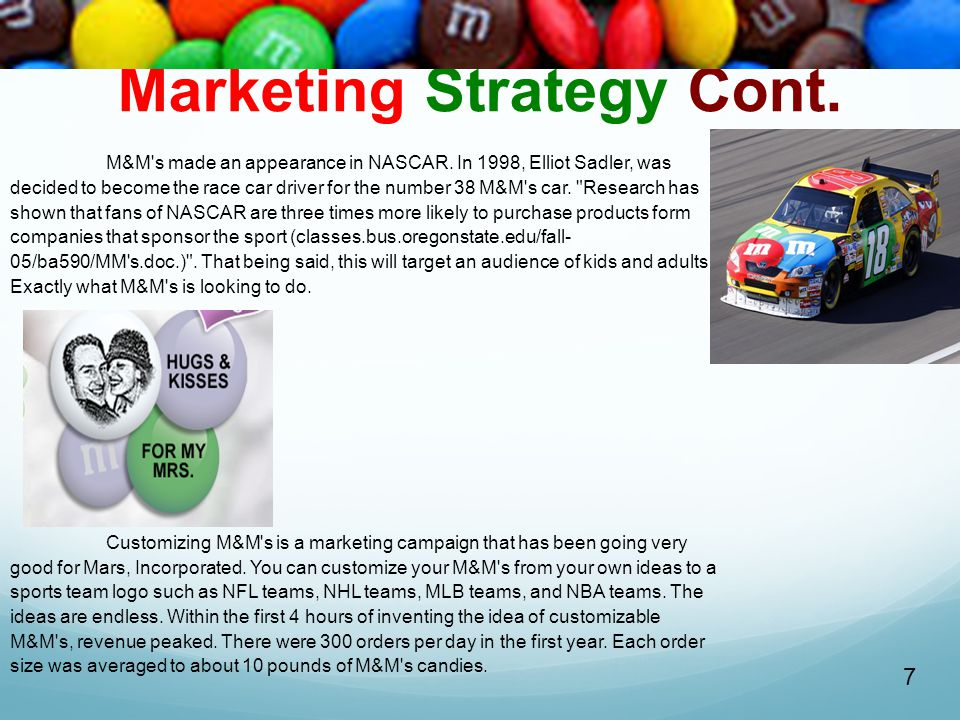 Marketing Strategy Cont.