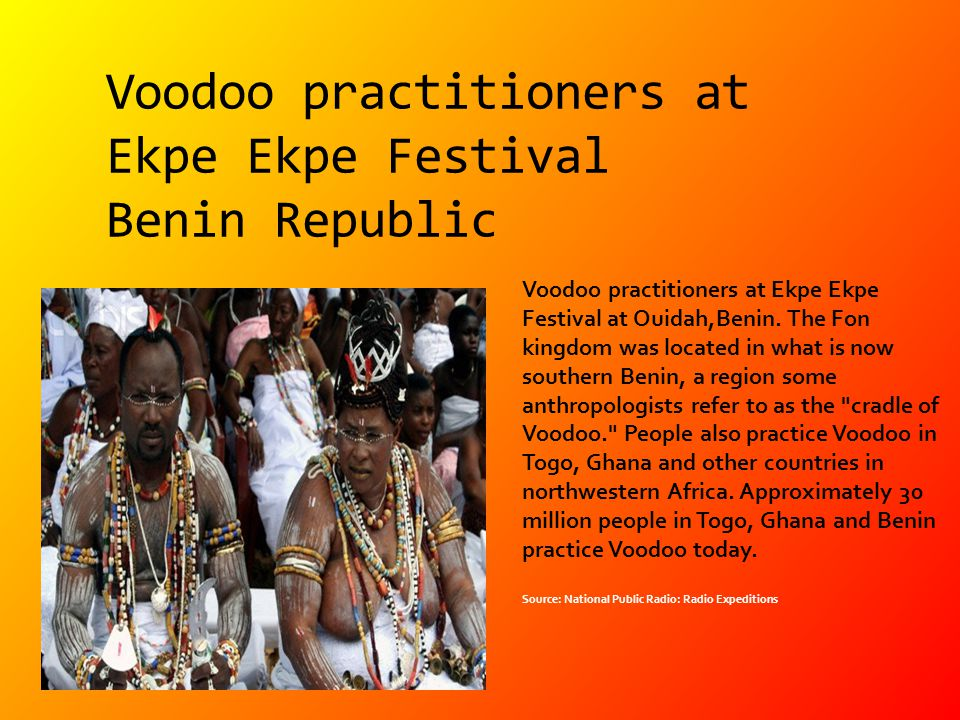 Voodoo practitioners at Ekpe Ekpe Festival Benin Republic