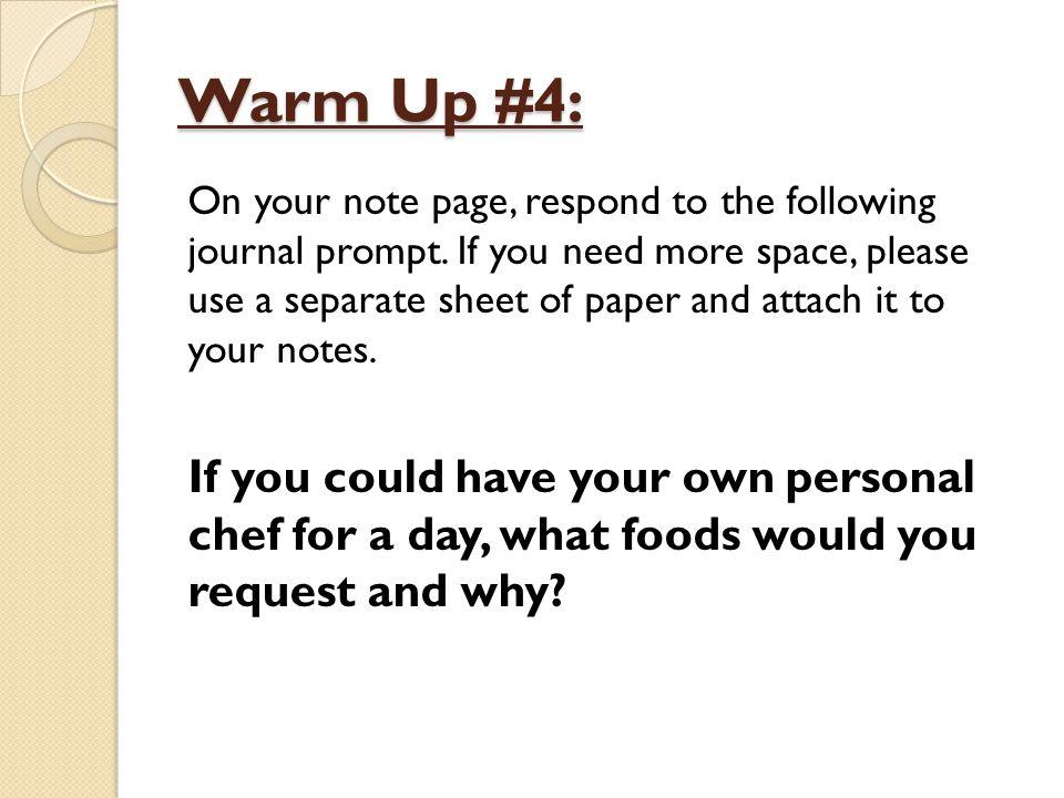 Warm Up #4: