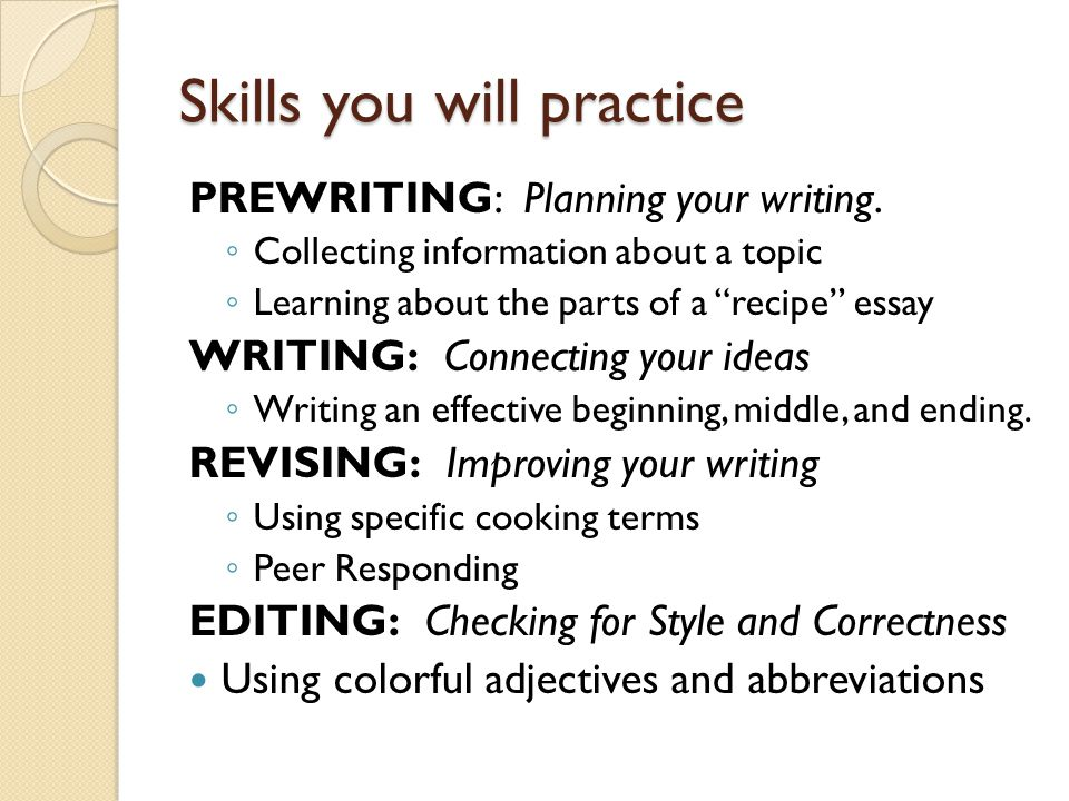expository essays standard w day one objective ppt video  5 skills you will practice