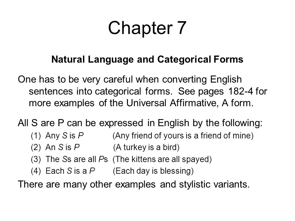 Natural Language and Categorical Forms