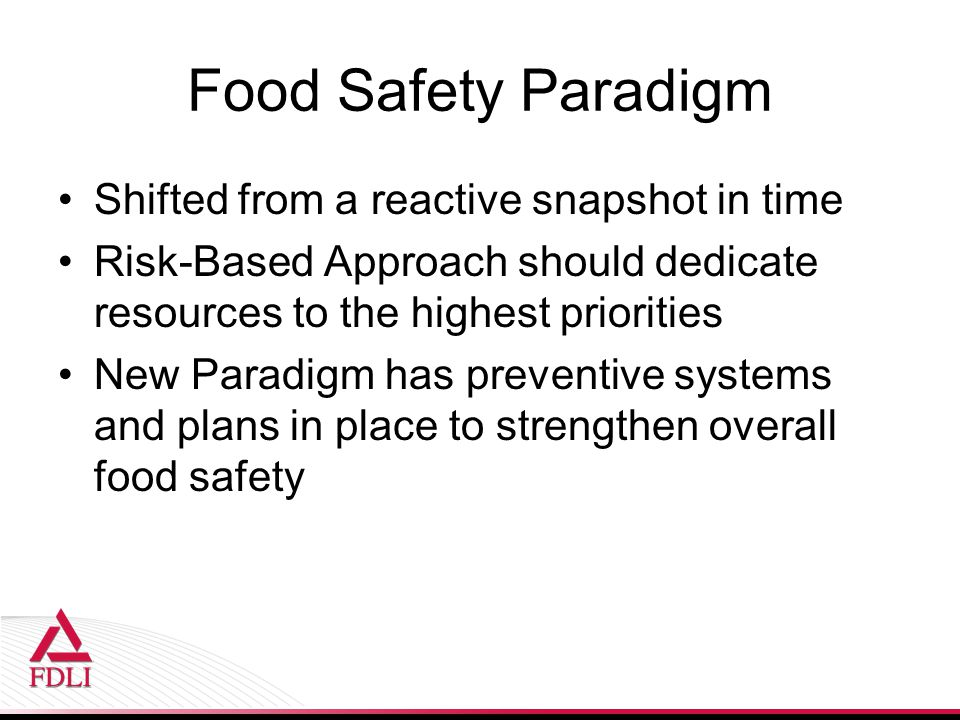 Food Safety Paradigm Shifted from a reactive snapshot in time