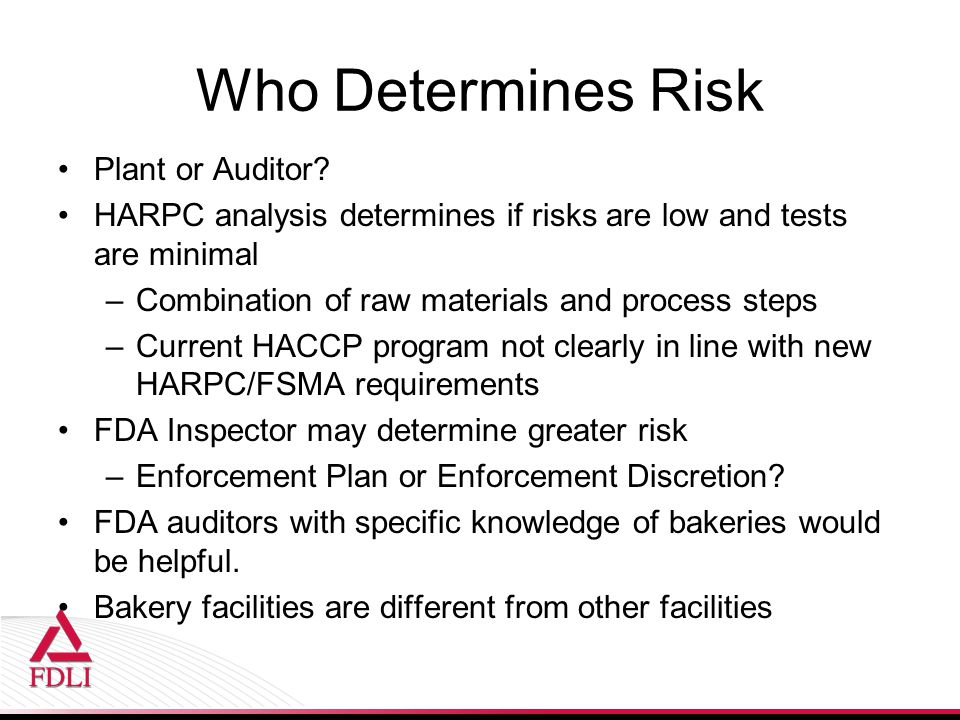 Who Determines Risk Plant or Auditor