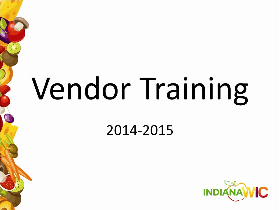 Vendor Training 2014-2015
