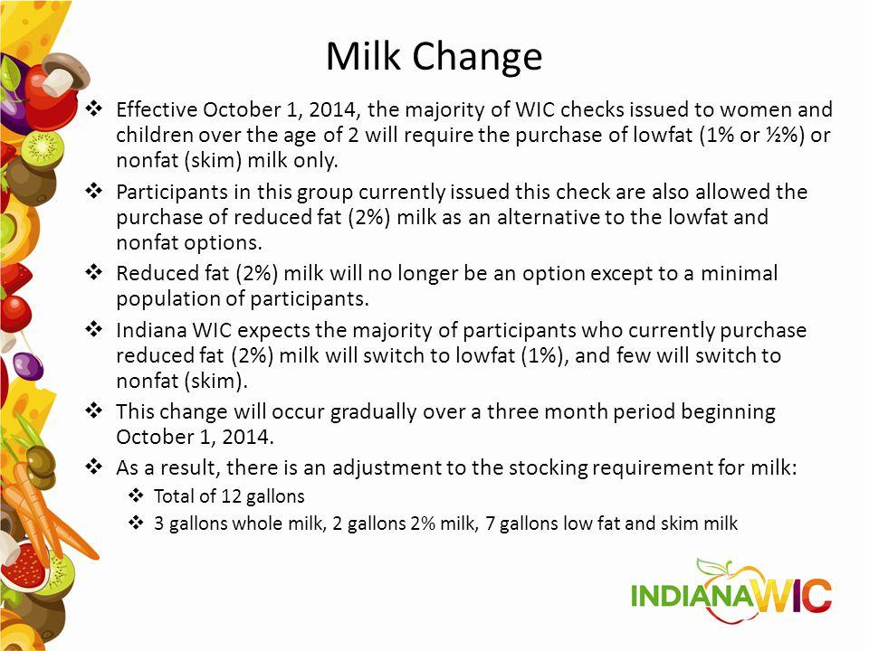 Milk Change