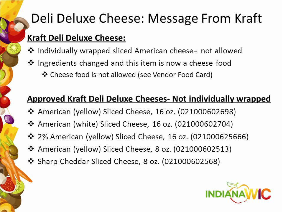 Deli Deluxe Cheese: Message From Kraft